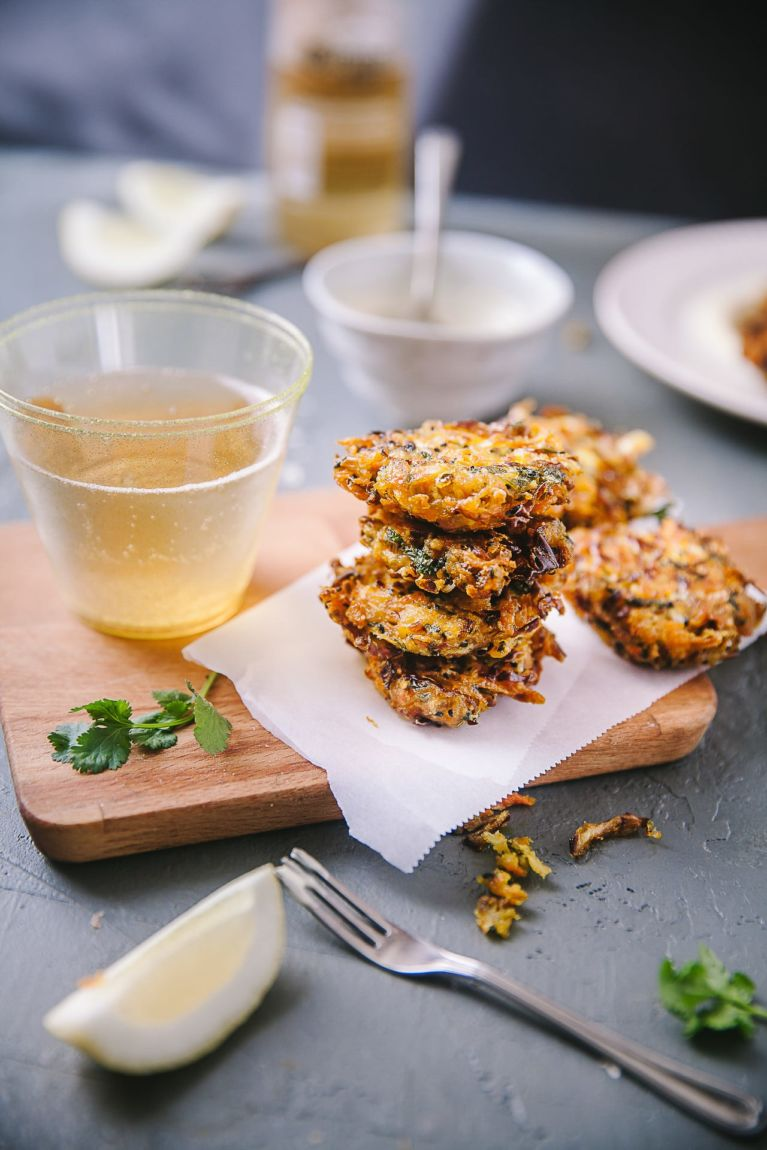 Crispy Cabbage And Carrot Fritters Playful Cooking