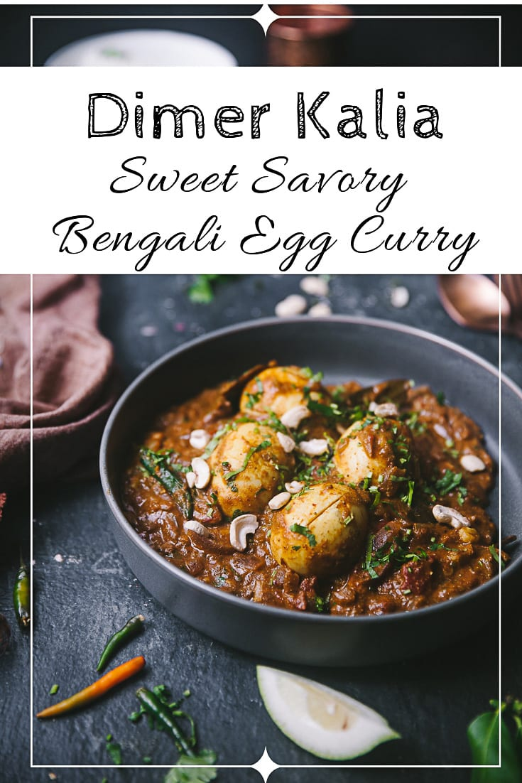 Bengali style sweet savory egg curry - Dimer Kalia #bengali #eggcurry #indianfood #playfulcooking #foodphotography #photography #foodstyling #easycurry #curry