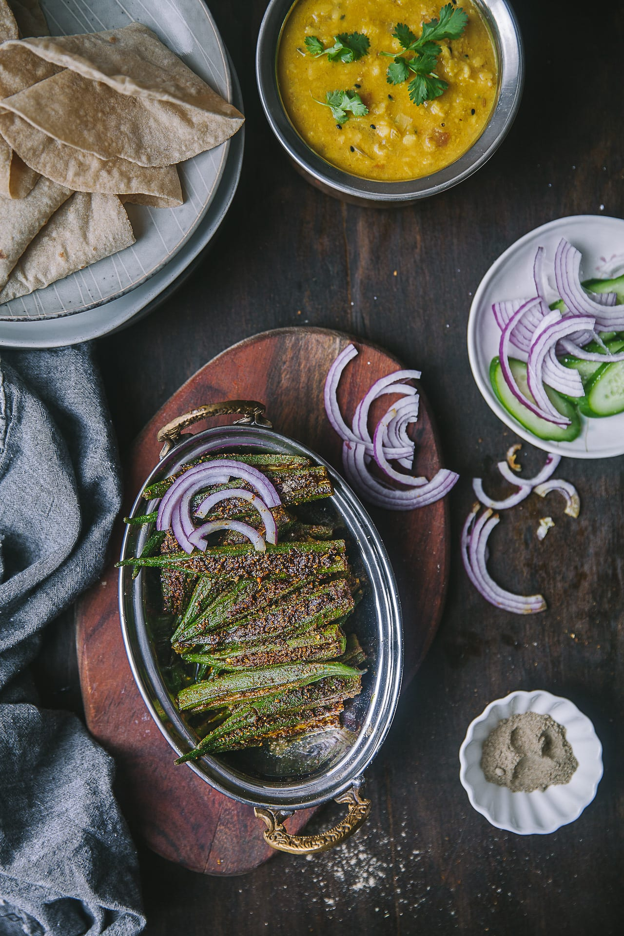 Bharwa Masala Bhindi (Spice Stuffed Okra) | Playful Cooking #okra #bhindi #playfulcooking #foodphtography