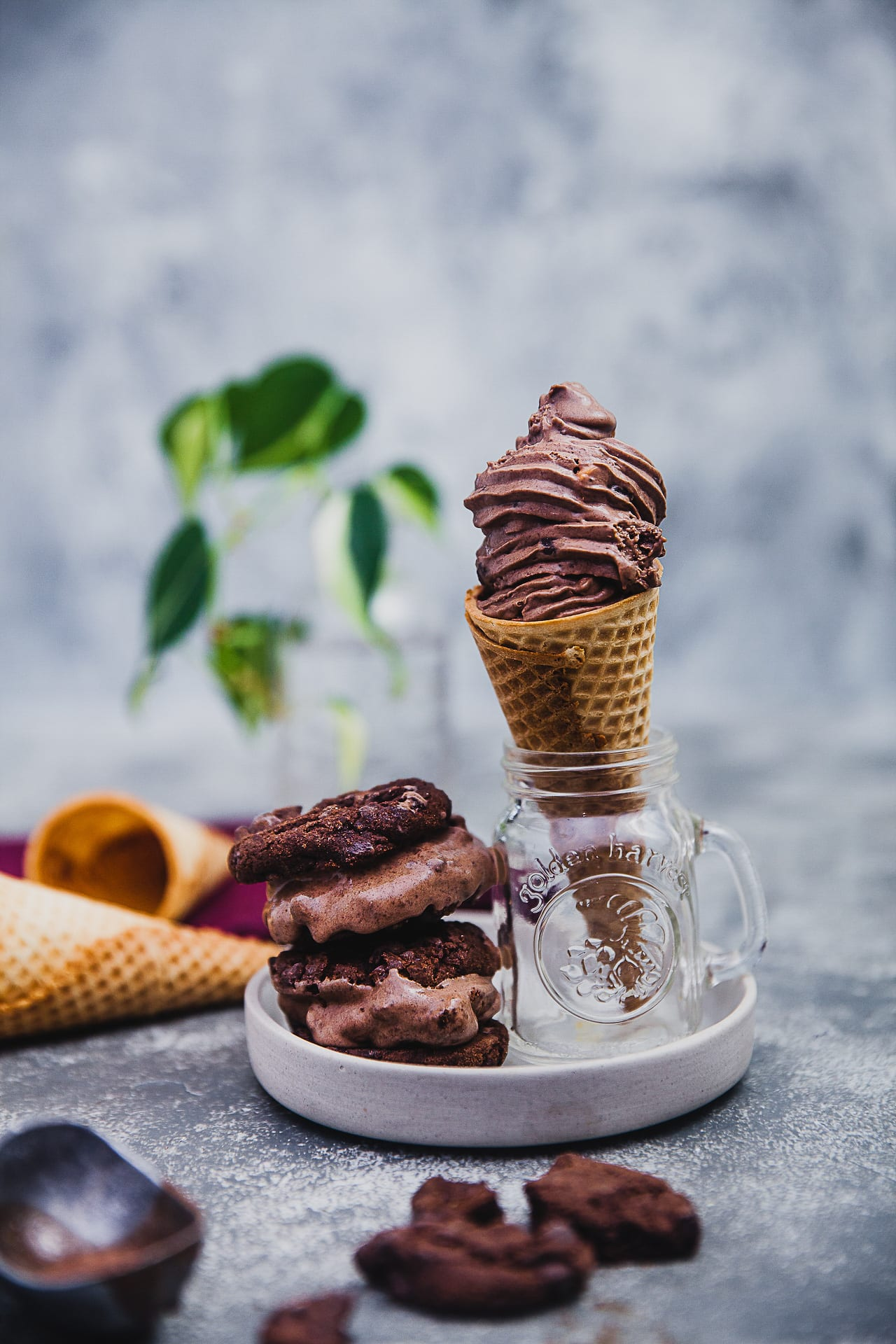nutella chocolate cookies icecream 03