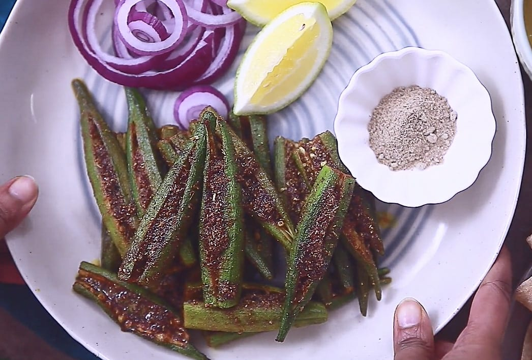 bharwa masala bhindi step 07