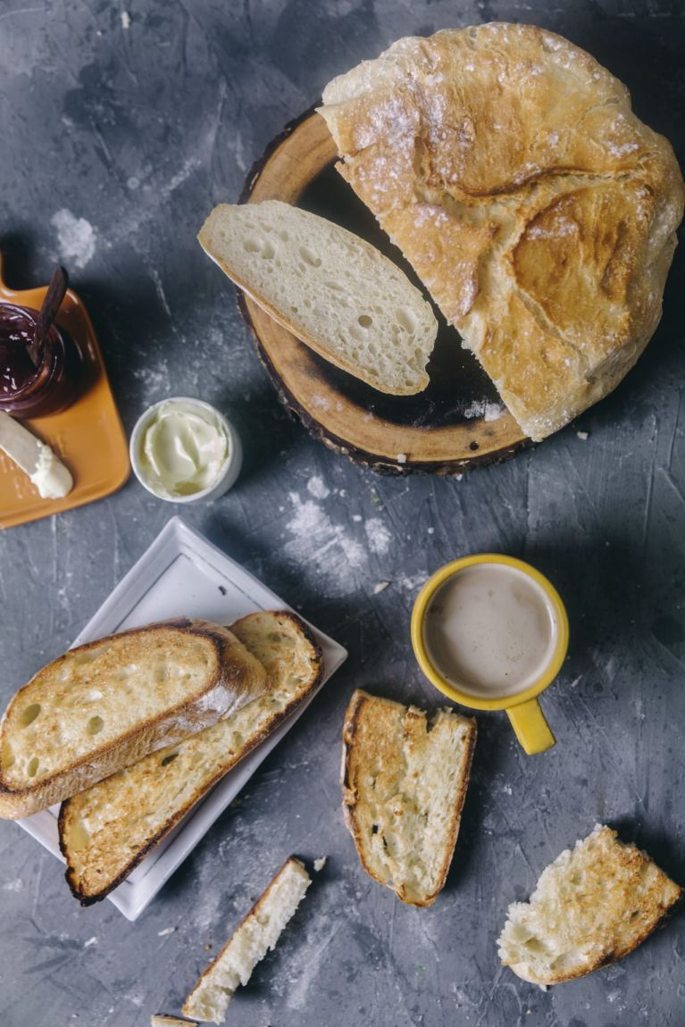Bread sliced photography   Playful Cooking #bread #baking #food-photography #noknead