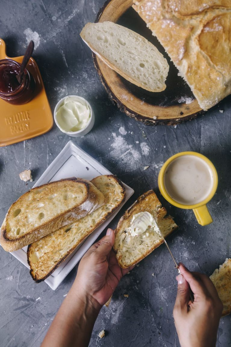 spread butter   Playful Cooking #bread #baking #food-photography #noknead