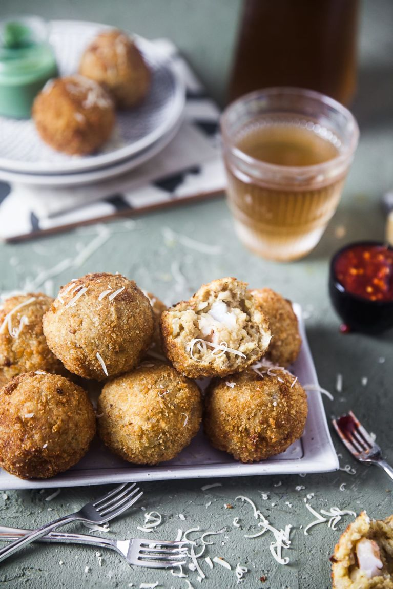 Risotto Balls | Playful Cooking #arboriorice #foodphotography #risotto #risottoballs