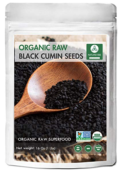 Organic Black Cumin Seed Whole, Nigella Sativa (1lb) by Naturevibe Botanicals, Gluten-Free & Non-GMO (16 ounces)