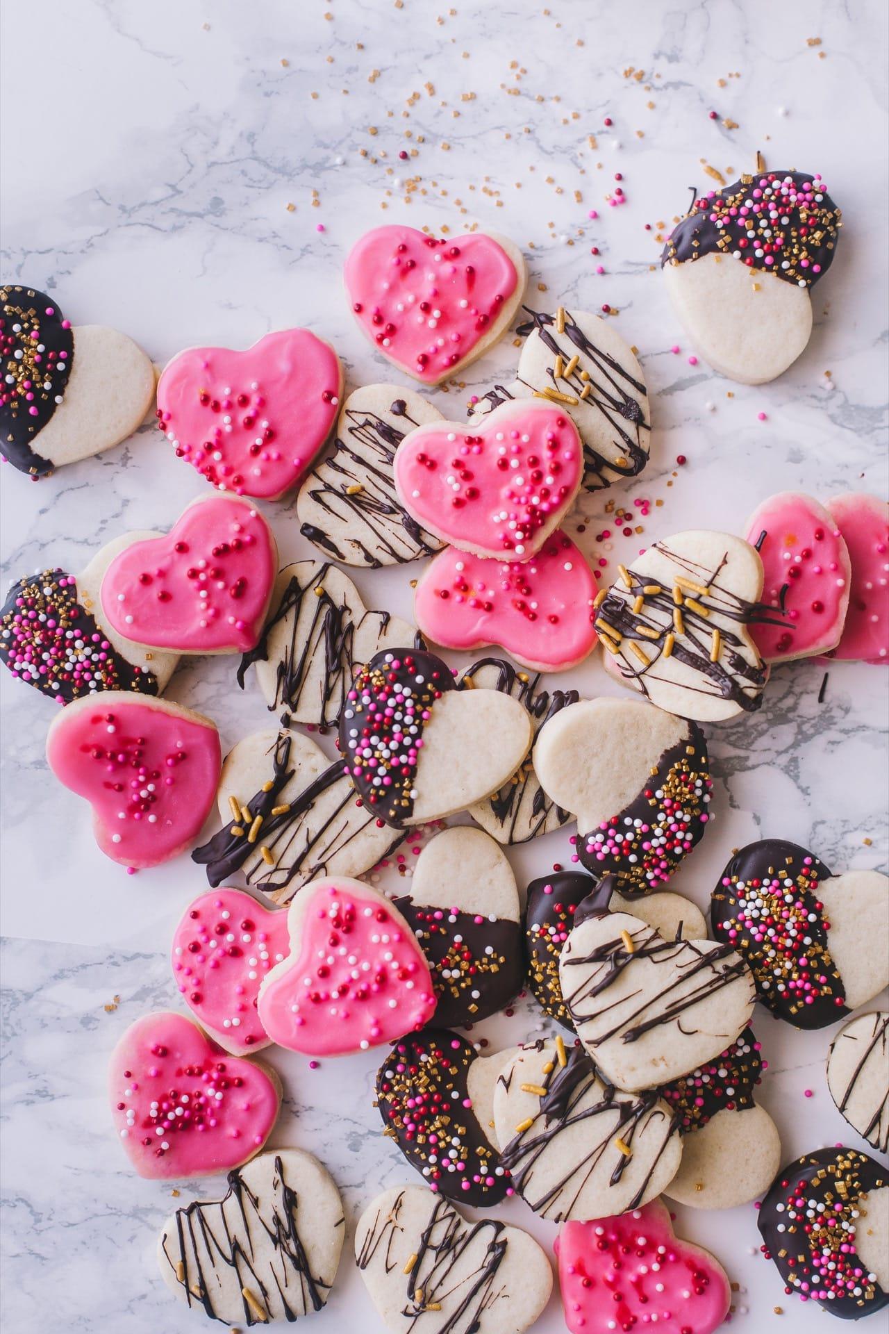 Valentines day shortbread cookies 05