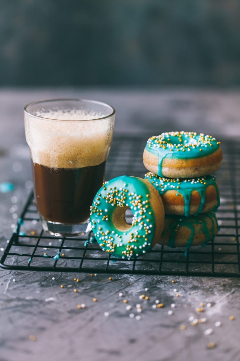 BAKED donut with simple icing glaze! | Playful Cooking #easydonut #donuts #bakeddonuts #foodphotography