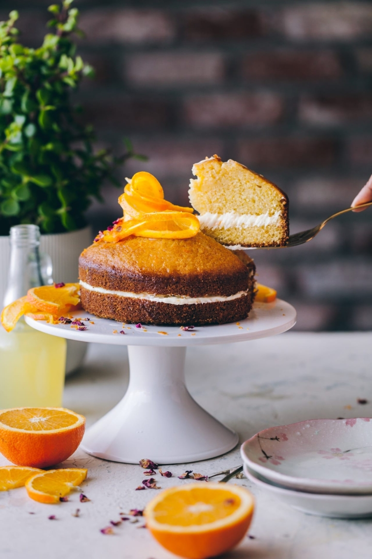 Orange Cornmeal Cake   Playful Cooking #cake #orangecake #cornmealcake #foodphotography This shop has been compensated by Collective Bias, Inc. and its advertiser. All opinions are mine alone. #MazolaHeartHealth #CollectiveBias