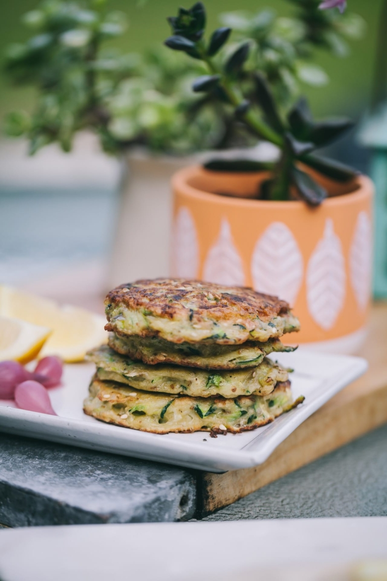 Zucchini Fritters | Playful Cooking #zucchini #fritters #snack #healthy #vegetarian