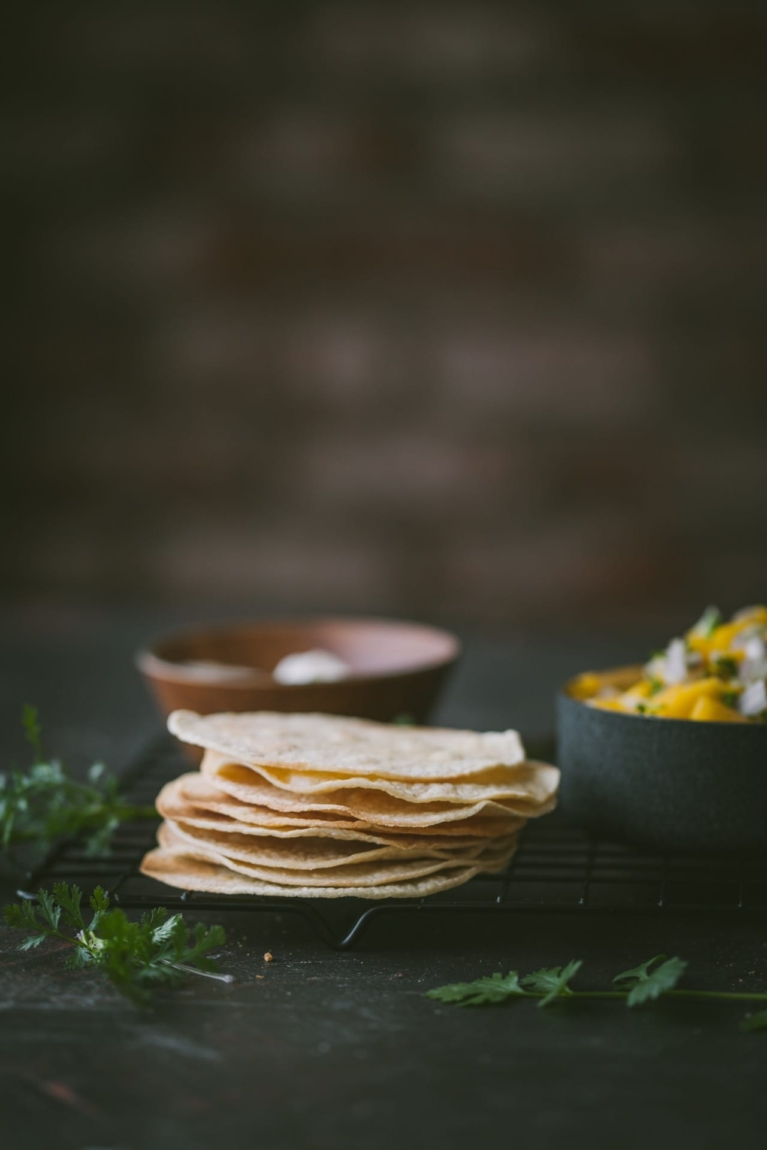 Baked Tostadas | food photography @playfulcooking #tostadas #chickentostadas #foodphotography #easymeal #mexicanfood