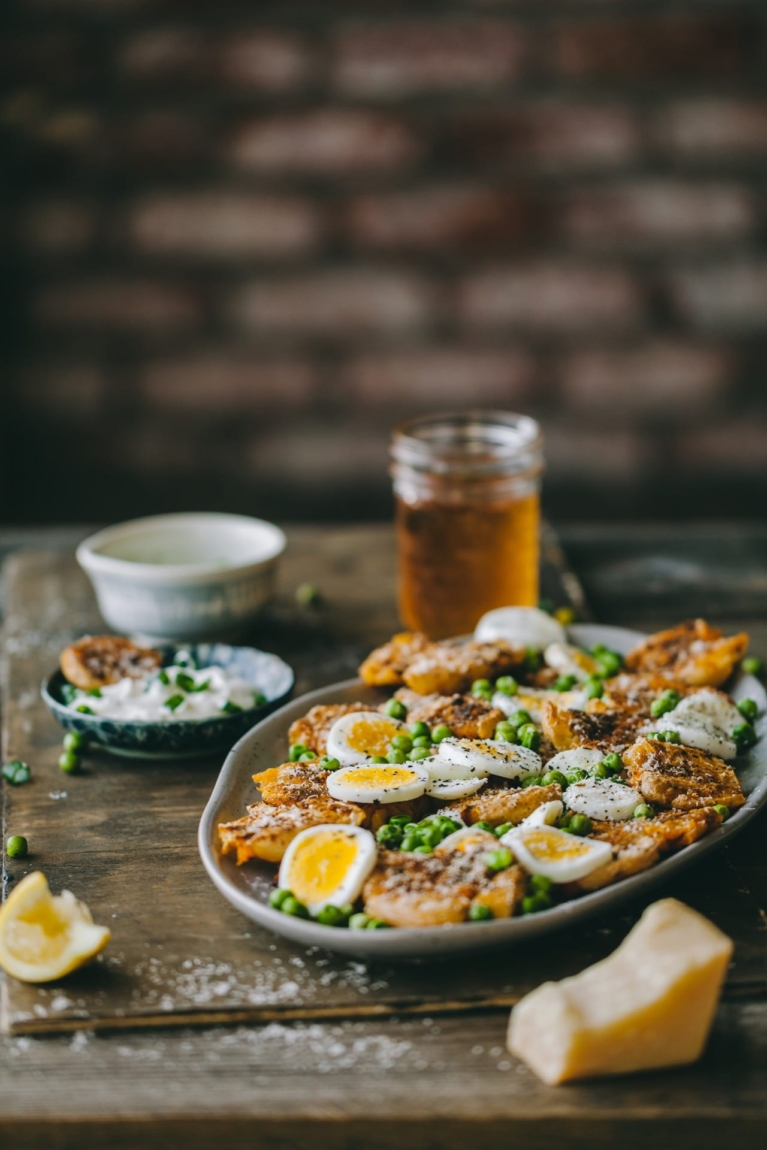 Baked Smashed Potatoes | Playful Cooking #poatoes #smashed #baked #foodphotography #foodstyling