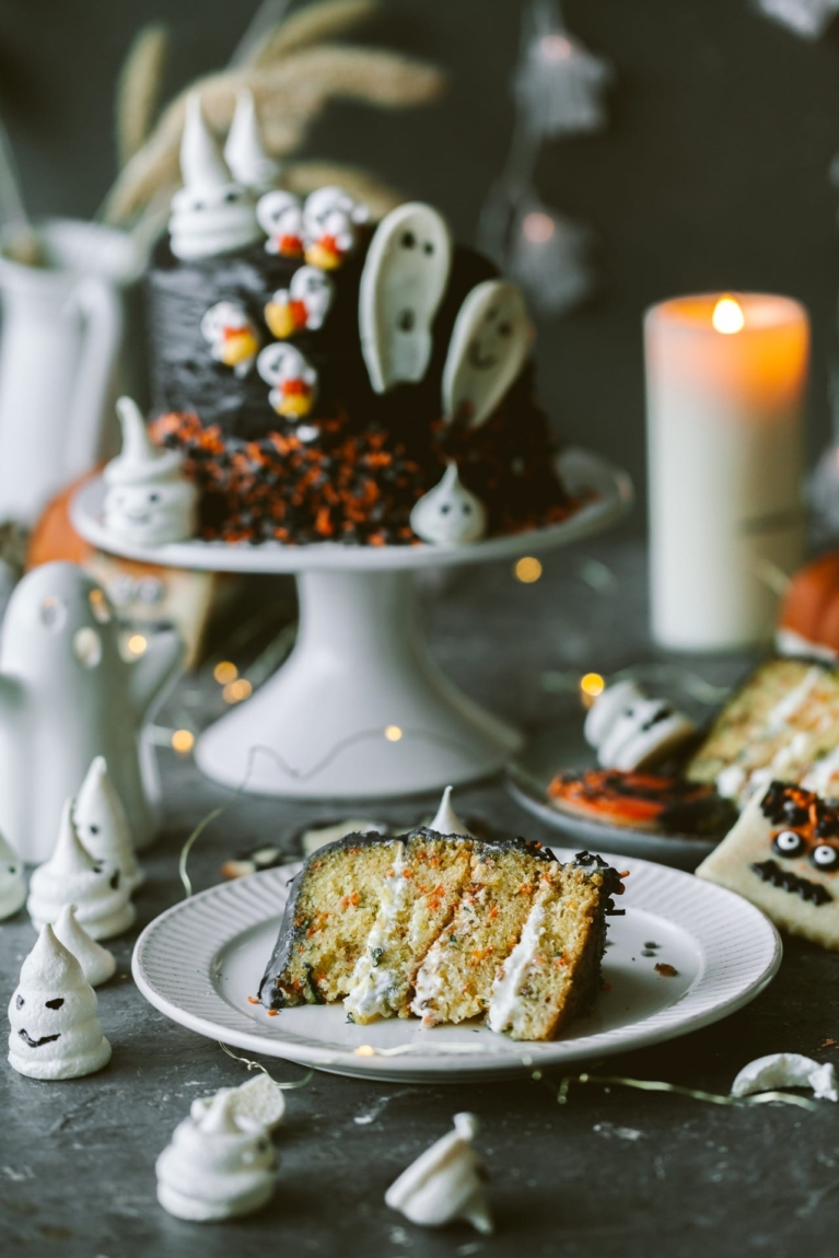 Carrot and Cardamom Halloween Layred Cake