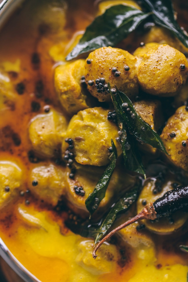 Macro shot of Indian curry