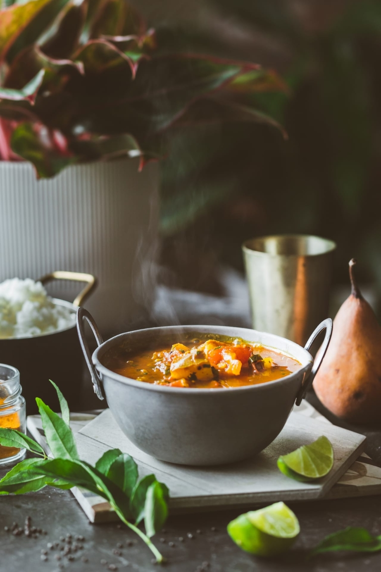 Pear Rasam - South Indian Spicy Soup