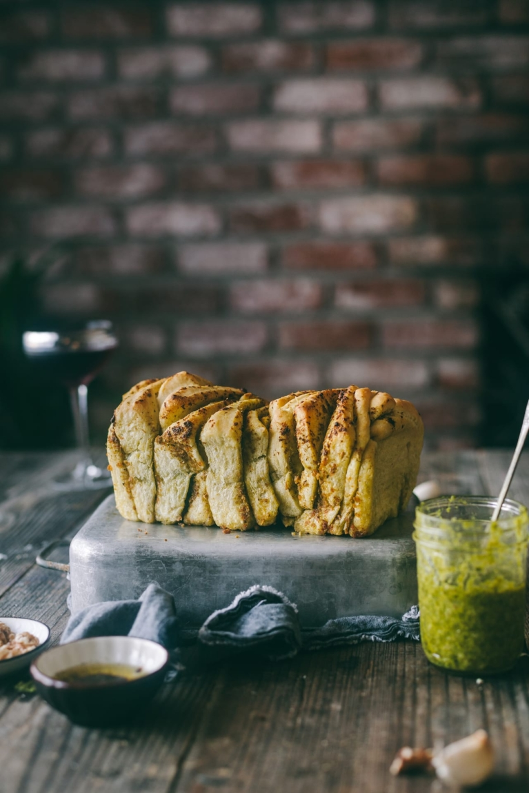 Pesto Pull Apart Bread