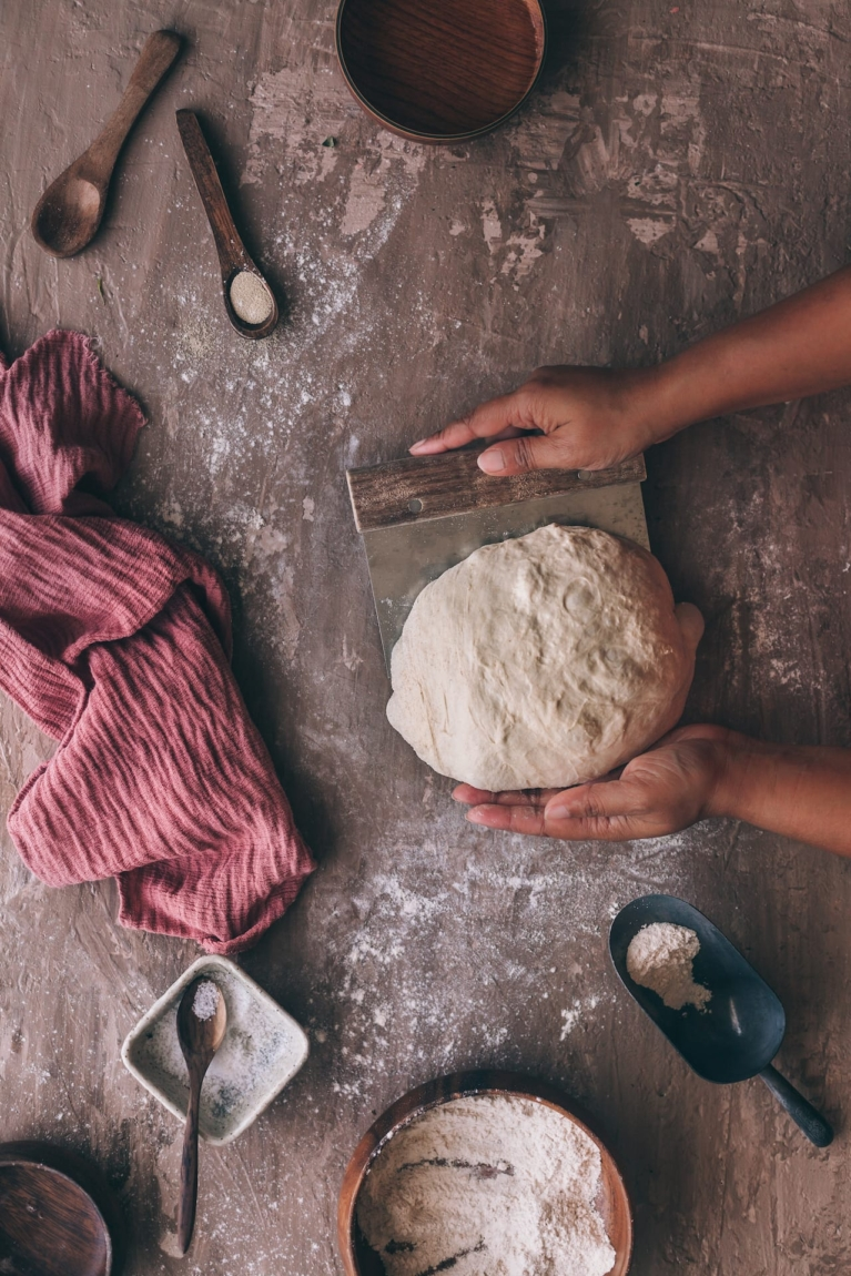 Shaping the Bread before baking