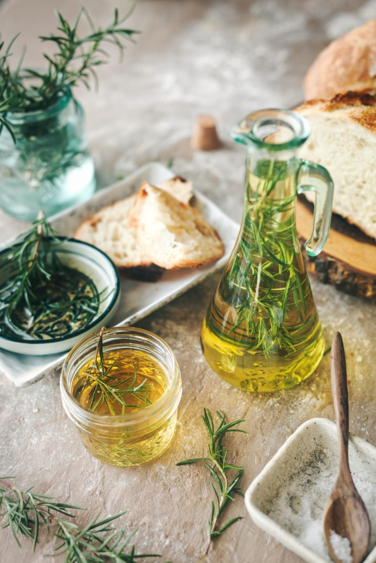 Rosemary and Garlic Olive Oil 1