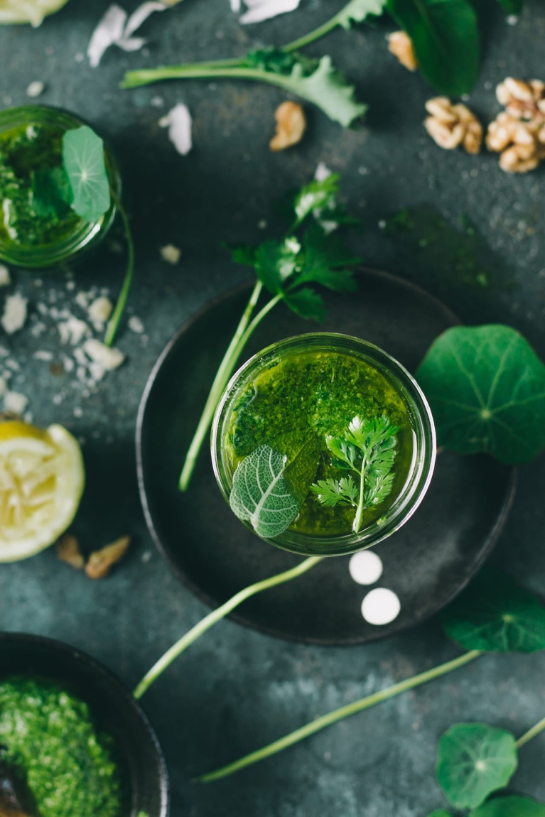 Make Pesto with any greens you find handy